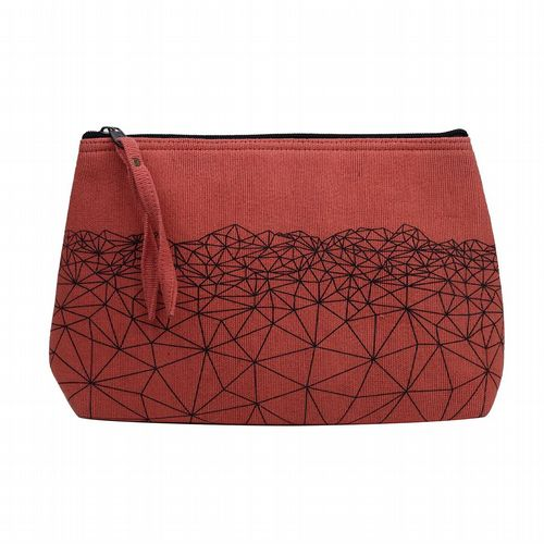 Anka Cotton Wash Bag - Coral
